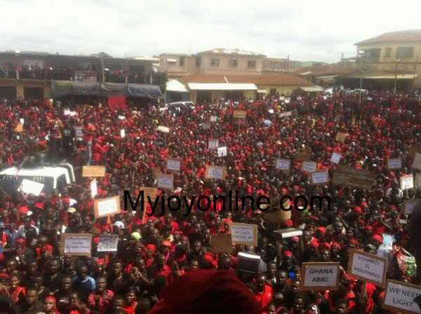 Kumasi demonstration was huge because NPP bused people - NDC