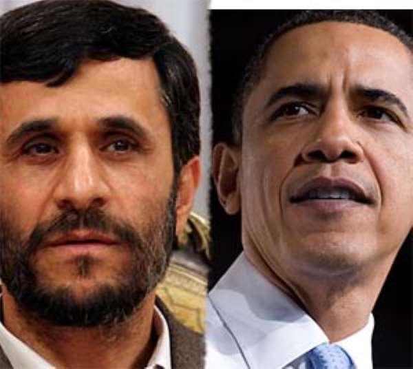 Mahmoud Ahmadinejad and Barack Obama