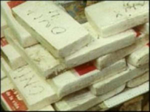 Slabs of cocaine