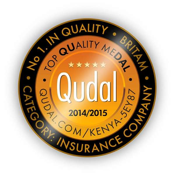 BRITAM Awarded The QUDAL - QUality meDAL,  Named Best  Insurance Company In Kenya