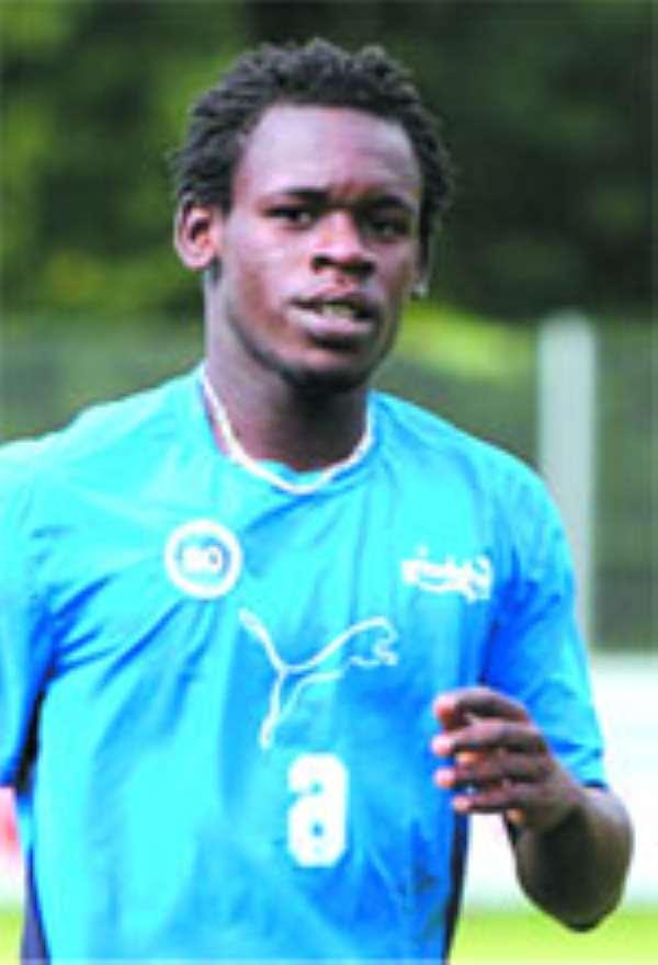 Emmanuel Clottey-leads the local Black Stars' attack