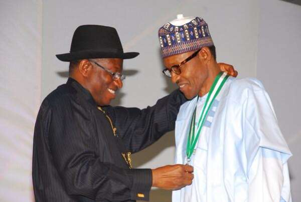 Jonathan and Buhari- Image by Premium Times Nigeria