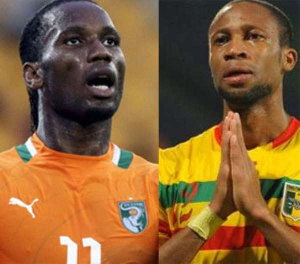 Didier Drogba and Seydou Keita