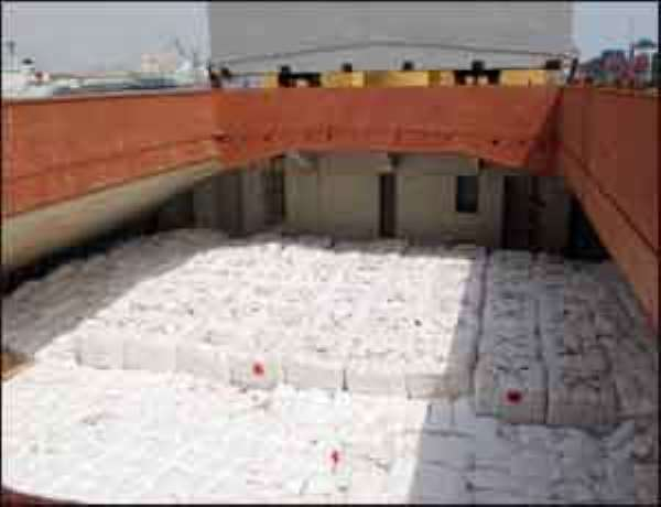 Some of the rice on board the Cido Vessel