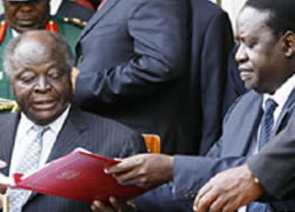 Kenya rivals agree to share power