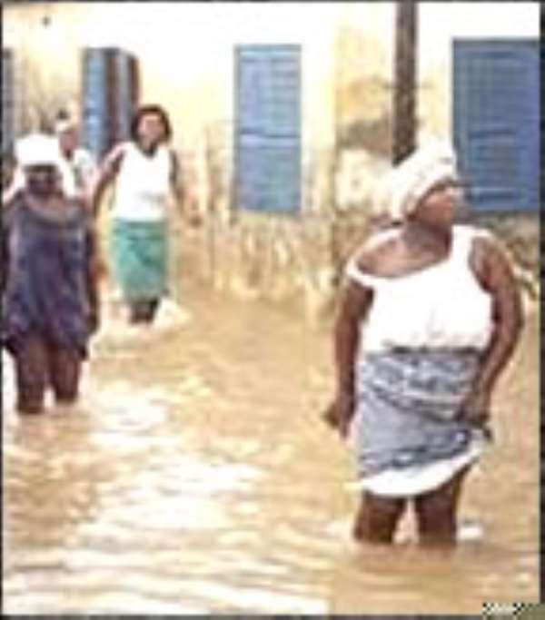 Floods hit Accra
