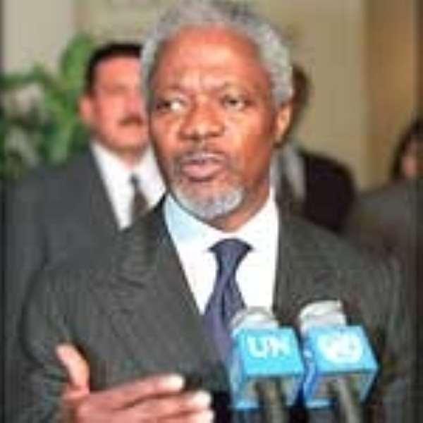 Kofi Annan arrives today