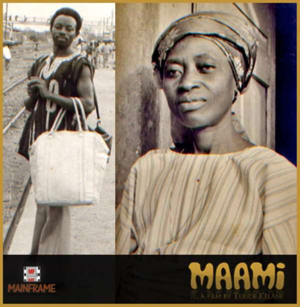 Pictures from the set of Tunde Kelani's film, Ma'ami.