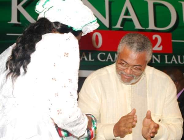 Mrs Rawlings launched her campaign Wednesday