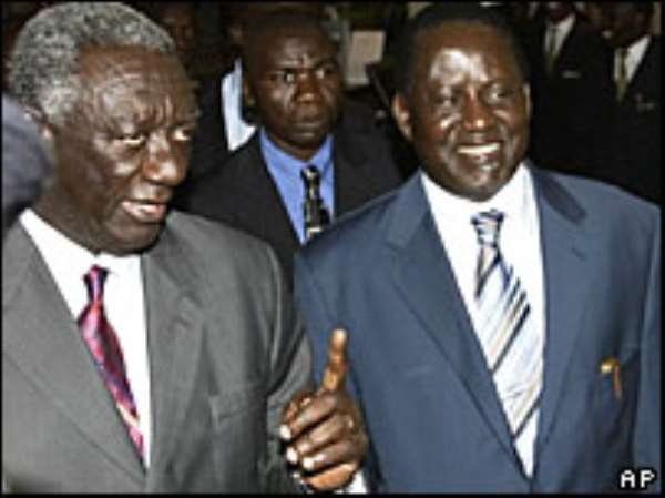 Kufuor extends mission to Kenya