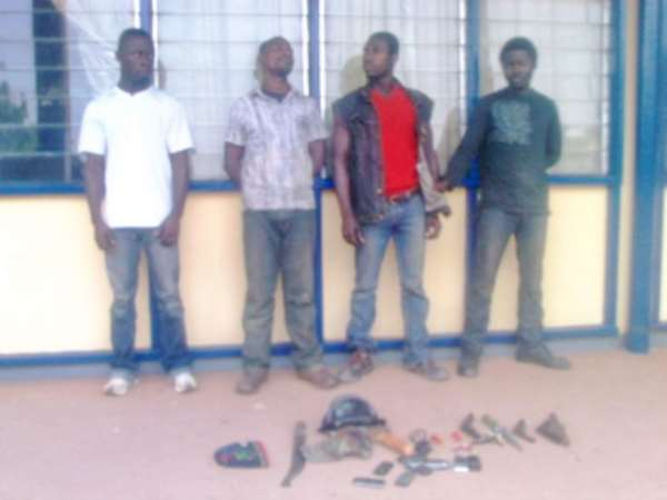 The four suspected robbers who were arrested before they could attack their target