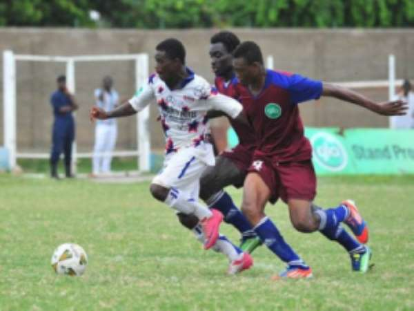 Kwame Boahene in action for Liberty Professionals