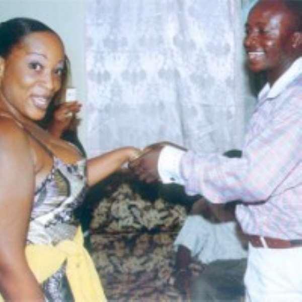 Sylvia with Prophet Eric Amponsah aka computerman