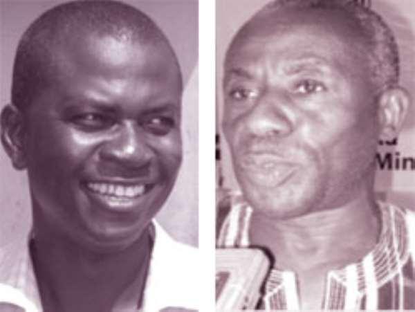Ben Annan, Sansu Assembly Member (left), Alhaji Collins Dauda –Minister for Lands, Forestry & Mines (right)