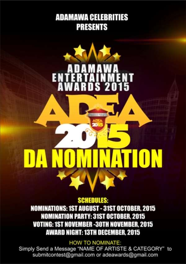 Adamawa Entertainment Awards (#Adea2015) Program Schedules