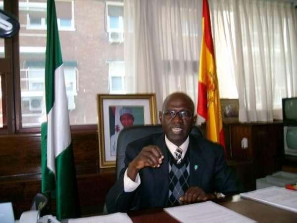 INTERVIEW WITH HIS EXCELLENCY, AMBASSADOR, OBED WADZANI EMBASSY OF NIGERIA IN SPAIN. Conducted by Adewale T Akande on Tuesday,27th of October,2009.