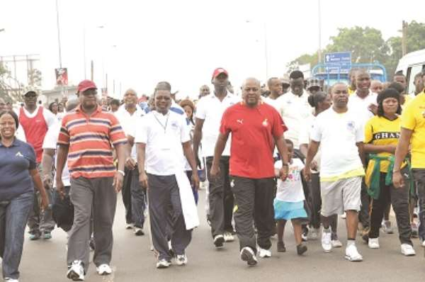 President urges Ghanaians to exercise regularly