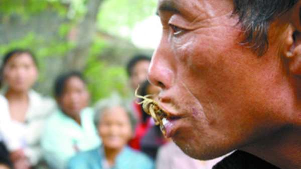 Man is addicted to eating live scorpions