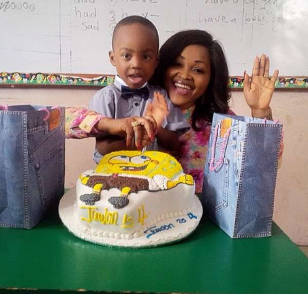 Mercy Aigbe In Double Celebration [Pictures]