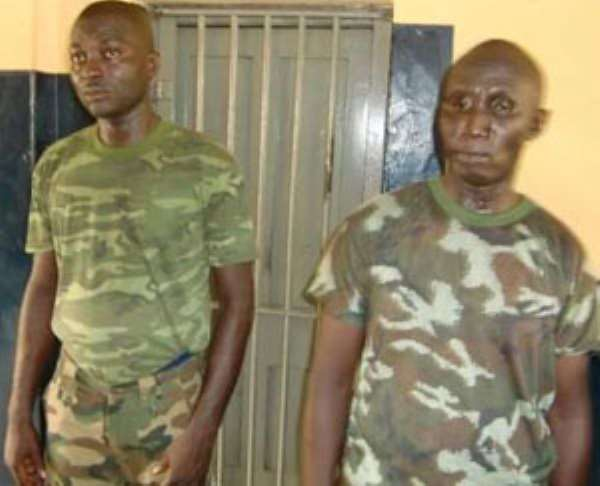 Fake Soldiers Grabbed