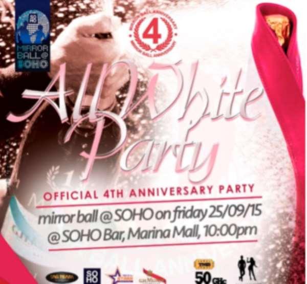 All White Affair @ SOHO To Toast Mirror Ball 4th Year Anniversary