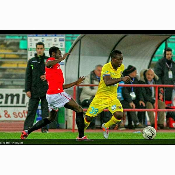 Moses Odjer picked up the injury while in action for Catania