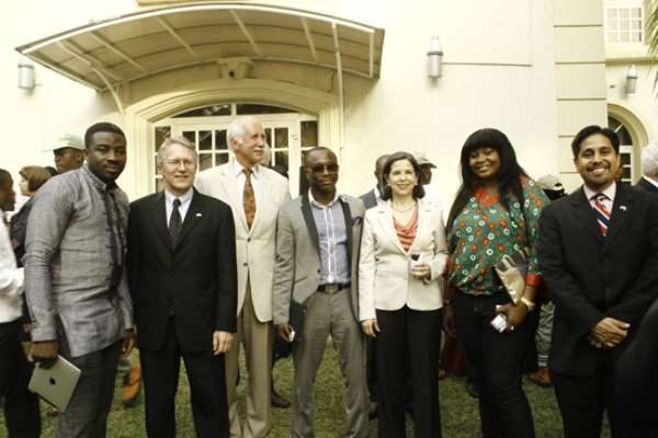 US embassy Abuja  honoured Adaora Ukoh, Julius Agwu, Alex Mouth at the officially launching of  'my vote counts'