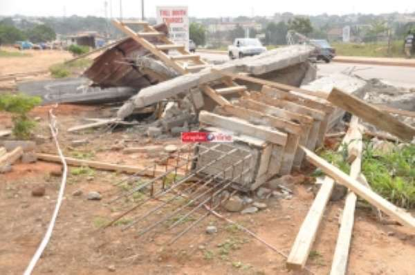 Legon toll booth pulled down by National Security operatives