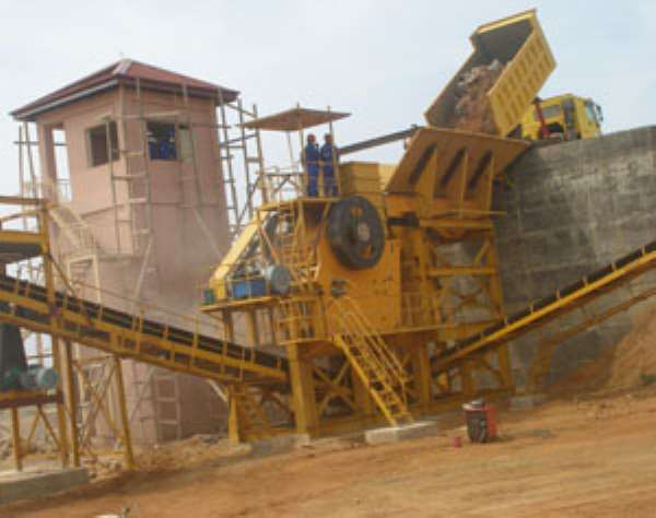On of the plants of Atiwa Quarries in operation