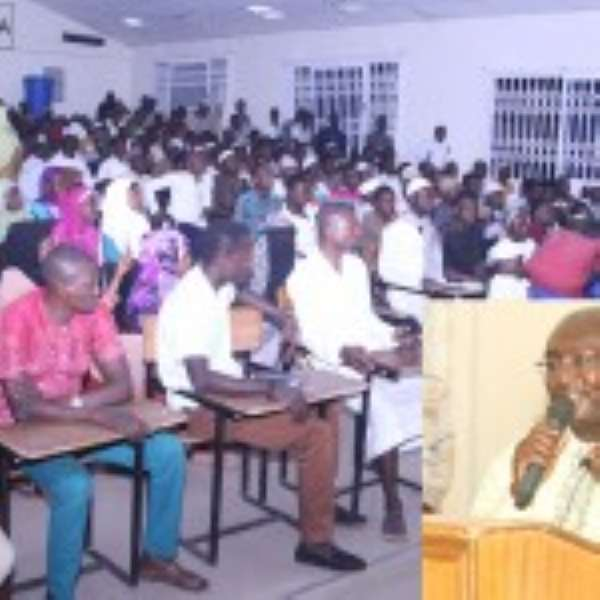The audience at the function. INSET is Dr Bawumia