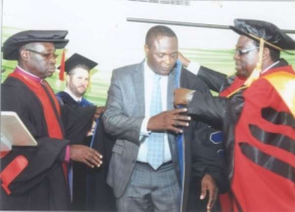 Apostle Oppong Ankomah awarded PhD