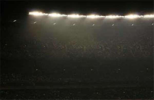 Black out at the Baba Yara Stadium yesterday