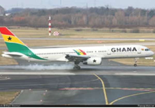 The GIA flight is said to have made a 'precautionary' landing