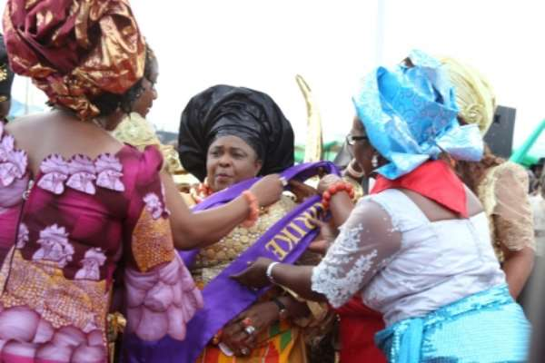 PHOTONEWS: Characters Sighted At State Burial Of Patience Jonathan Mother's