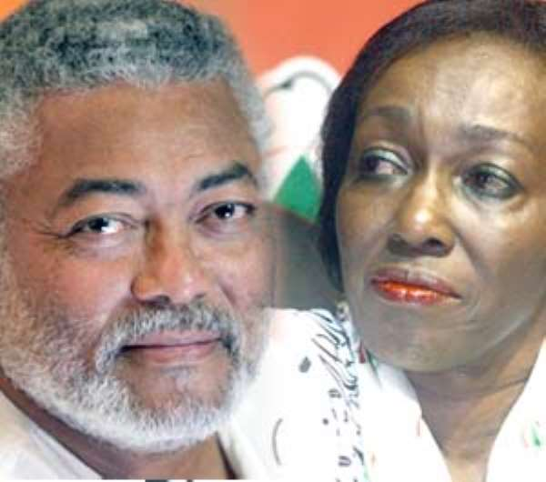 Jerry Rawlings and wife Nana Konadu Agyeman