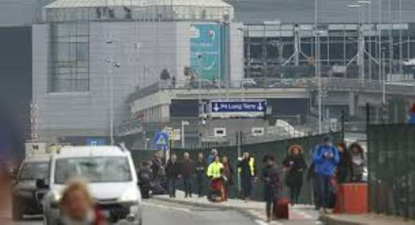 At least 13 dead in Brussels after airport, subway blasts