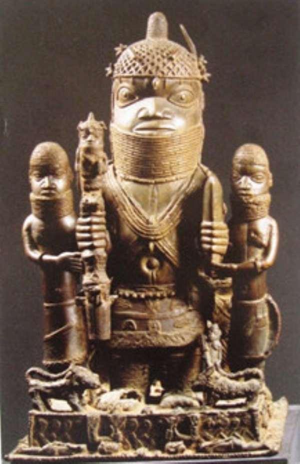 Altar Group, Oba Akenzua I, Benin, Nigeria, now in Ethnologisches Museum, Berlin, Germany