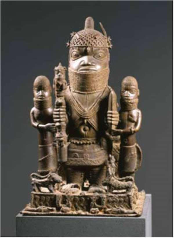 Altar group honouring Oba Akenzua I, Benin. Ethnologisches Museum, Berlin.