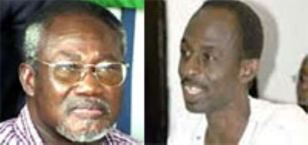 (left) Dr. Obed Yoa Asamoah and (right) Asiedu Nketiah