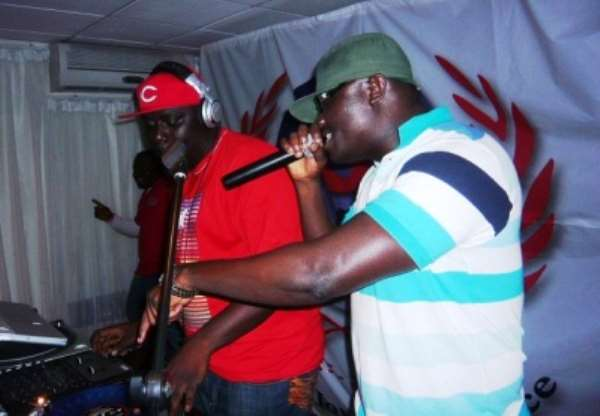 DJ Black and Bola Ray at show.