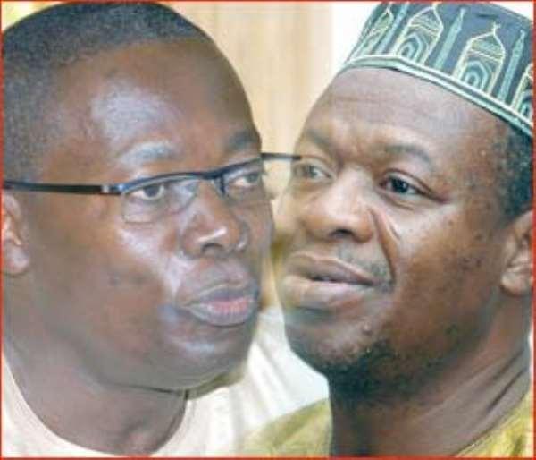 Dr Sipa Yankey and Baba Kamara
