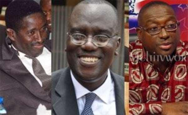 Capt Effah Dartey (Rtd), Kwadwo Owusu Afriyie and Yaw Buabeng Asamoah