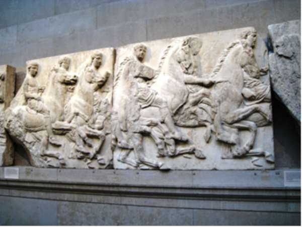 Parthenon Marbles, Greece, now in British Museum, London, United Kingdom.