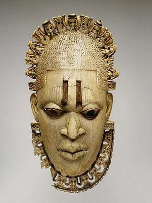 Pendant Mask: Queen-Mother-Idia, Benin, Nigeria, now at The Metropolitan Museum of Arts, New York, United States of America.
