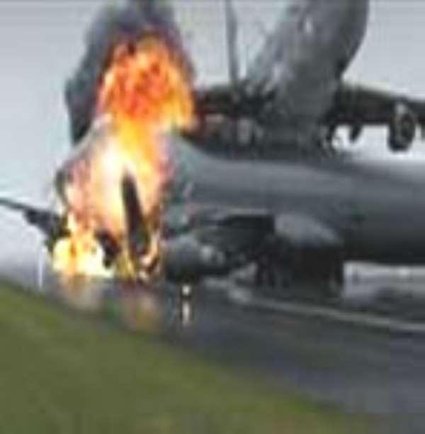 Plane crash lands at Heathrow Airport