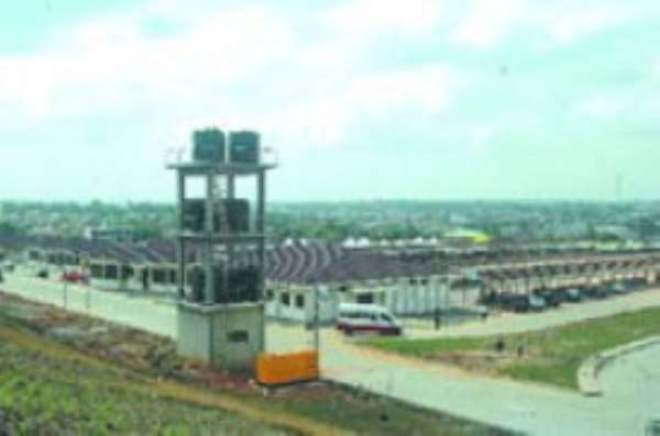 An area view of the Achimota transport terminal