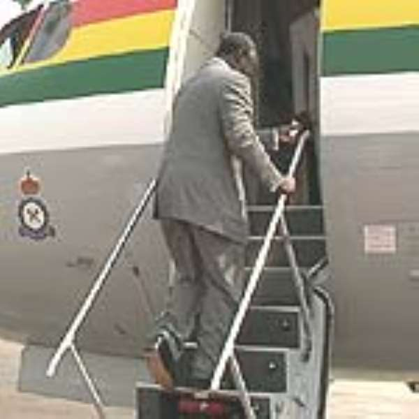 Kufuor Departs For Cuba...