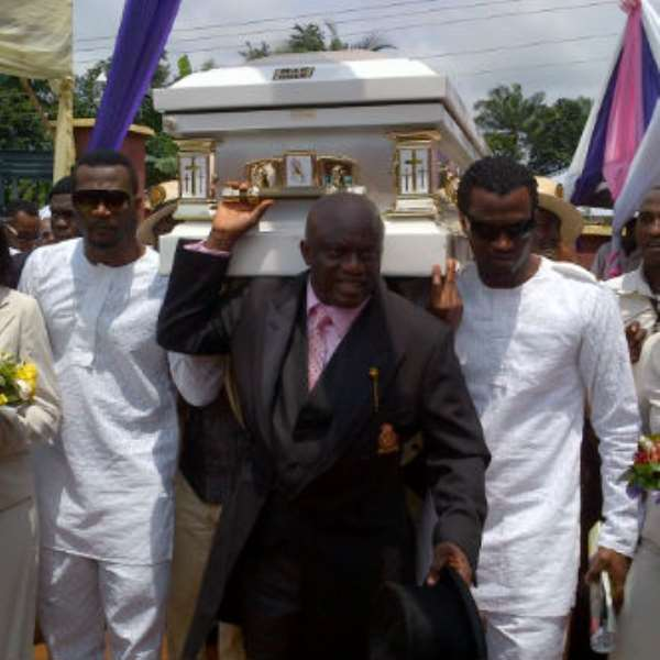 First Pictures From P-Square's Mum's Burial