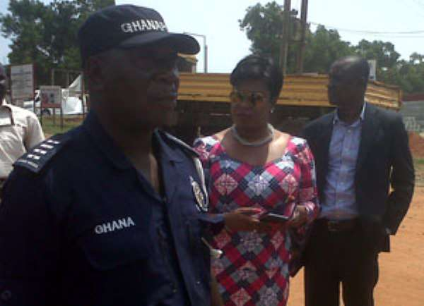 Obuobia Darko Opoku on a visit to the encroached land yesterday