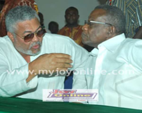 Ex-President Rawlings and President Mills